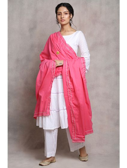 White and Pink Suit Set