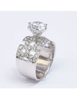 Zircon Cartier Silver Ring