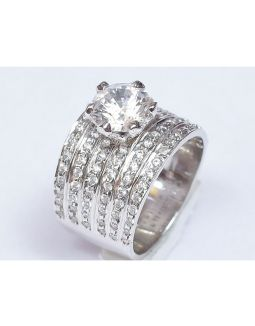 5 Line Diamond Band Ring