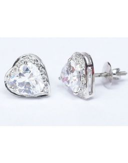 Heart Shaped Zircon Studs