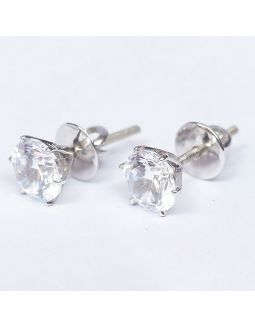 Zircon Silver Earrings