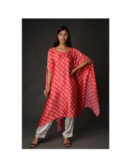 Asymmetric Kurta With Pants
