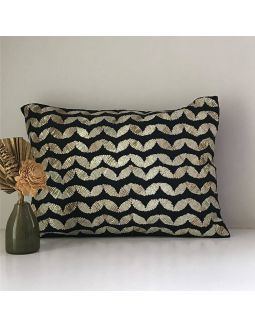 Black Gota Work Cushion Cover