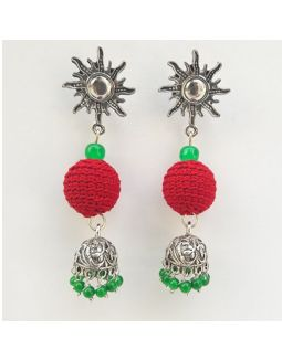 Red and Green Jhumkas