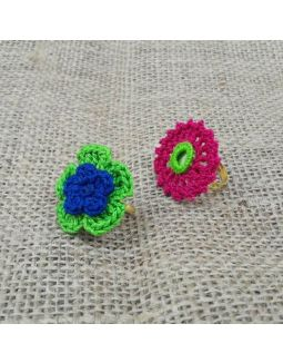 Multicolor Crochet Finger Rings