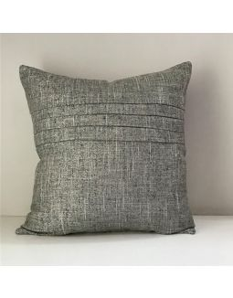 Grey Pleated cushion cover