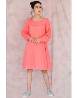 Coral Dana Moti Dress