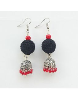Black and Red Jhumkas