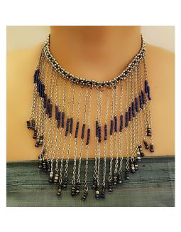 Blue multilayered Necklace