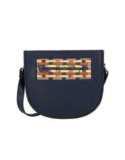 Blue Crescent Sling Bag
