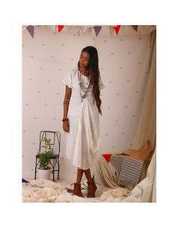 White Tunic with Cowl