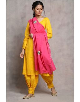 Yellow and Pink Suit Set