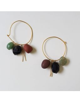Shades of Black Loop Earrings