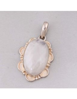 Rainbow Moonstone Alloy Pendant
