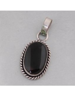 Black Onyx Alloy Pendant