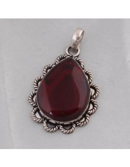 Red Garnet Alloy Pendant