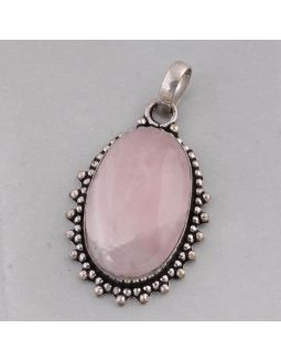 Rose Quartz Alloy Pendant