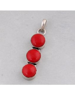 Synthetic Coral Alloy Pendant