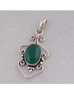 Green Jade Alloy Pendant