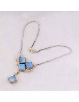 Ethopine Opal Silver Necklace