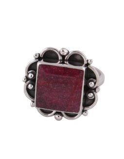 Correndum Ruby Silver Ring