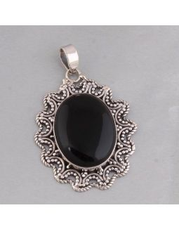 Antique Oval Shape Silver Pendant