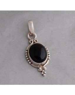 Antique Black Silver Pendant