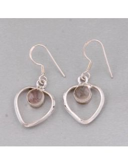 Golden Rutile Silver Earring