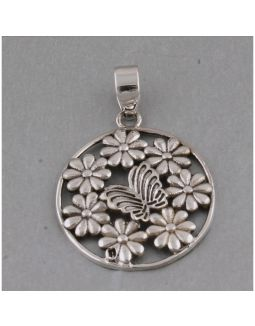 Butterfly and Flower Pendant