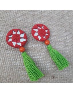 Red and Green Tassels Buttons