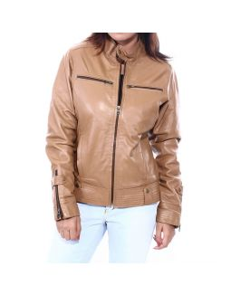 Solid Women's Leather Jacket