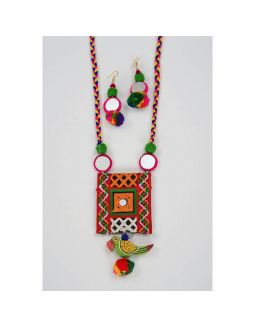 Kuchi Aari Work Necklace