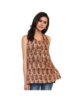 Brown Batik Top