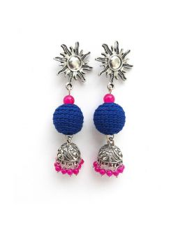 Blue and Pink Jhumkas