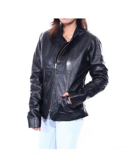 Full Sleeve Solid Women's Leather Jacket