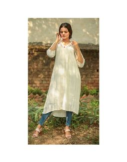 Hand Embroidered Gathered Tunic