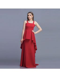 Cherise Red Layer Dress