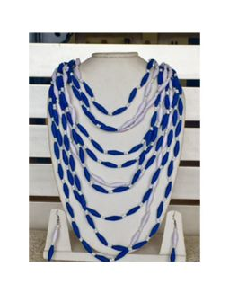 Blue and White Multilayer Necklace