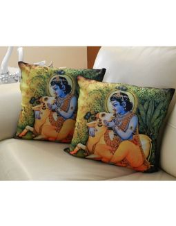 Krishna Print Cushion Cover