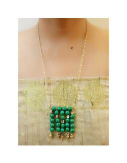 Beaded Pendant Chain Necklace