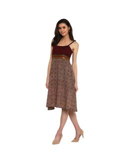 Maroon Ilkal Dress