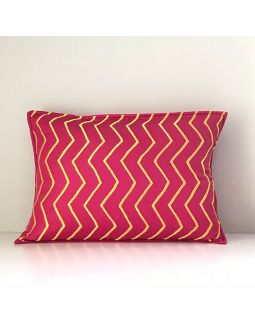 Pink Emboireded Cushion Cover