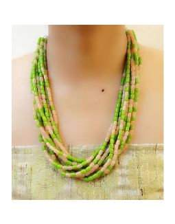 Light Green Multistring Necklace