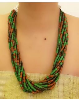 Green Multistring Necklace