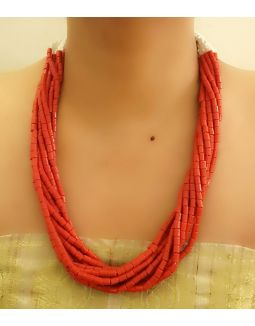 Red Multistring Necklace
