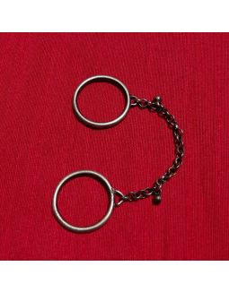 Silver Ring with Chain