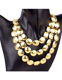 3 Layered Gold Plated Necklace
