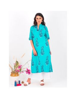 Blue Kurta and Palazzo Set