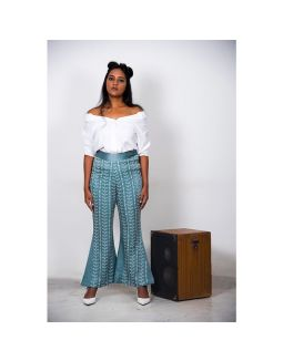 Teal Bell-Bottoms Pant