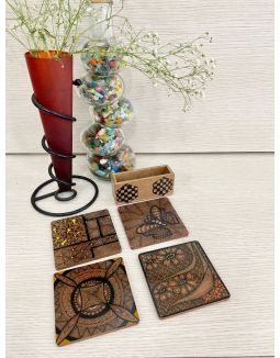 Butterfly Coaster (Set of 4)